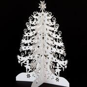 Stort juletræ, hvid