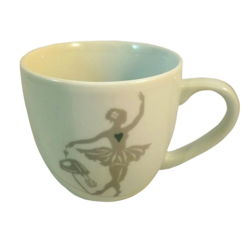 Ballerina mug with hand mixer