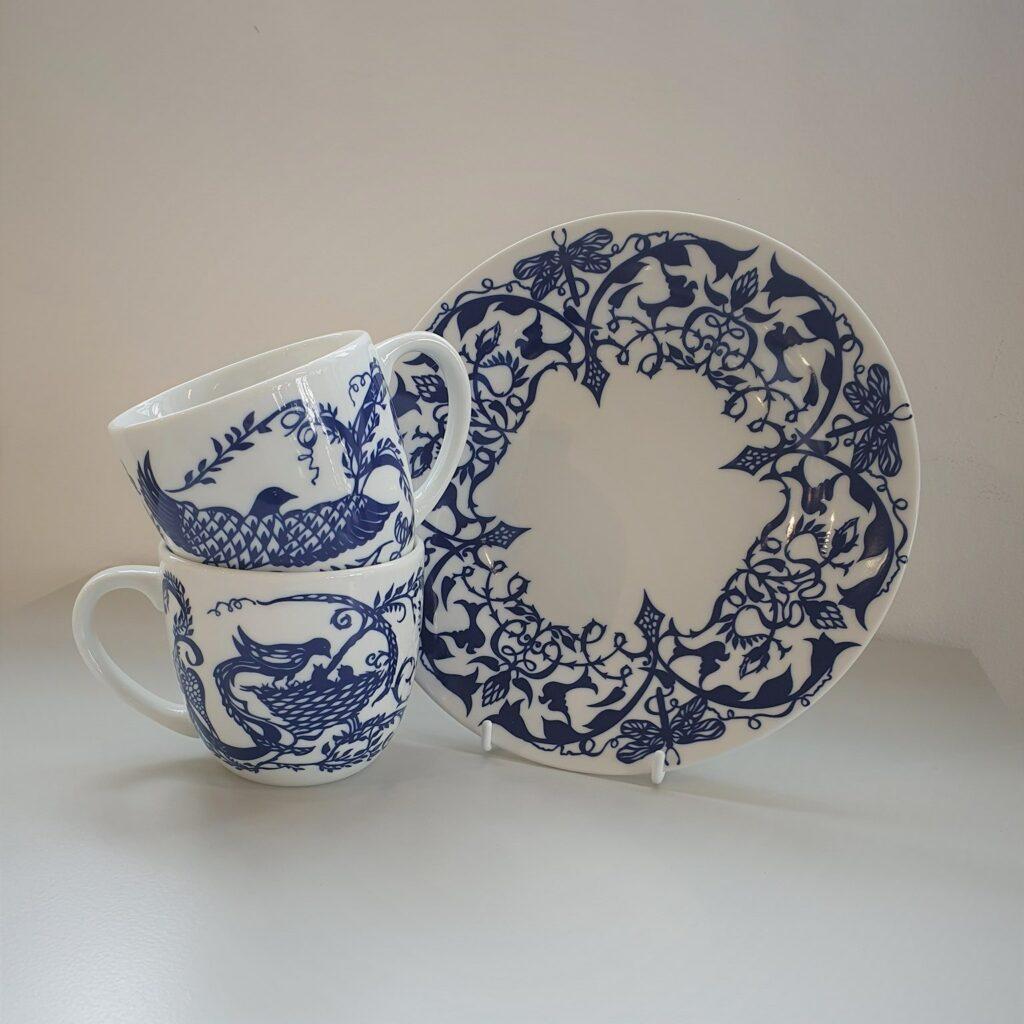 Blå tallerken 22 cm.